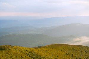 Beautiful Carpathian Mountains view