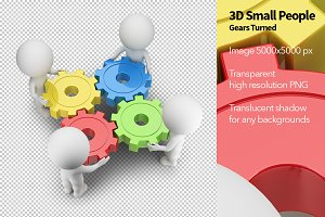 3D Small People - Gears Turned