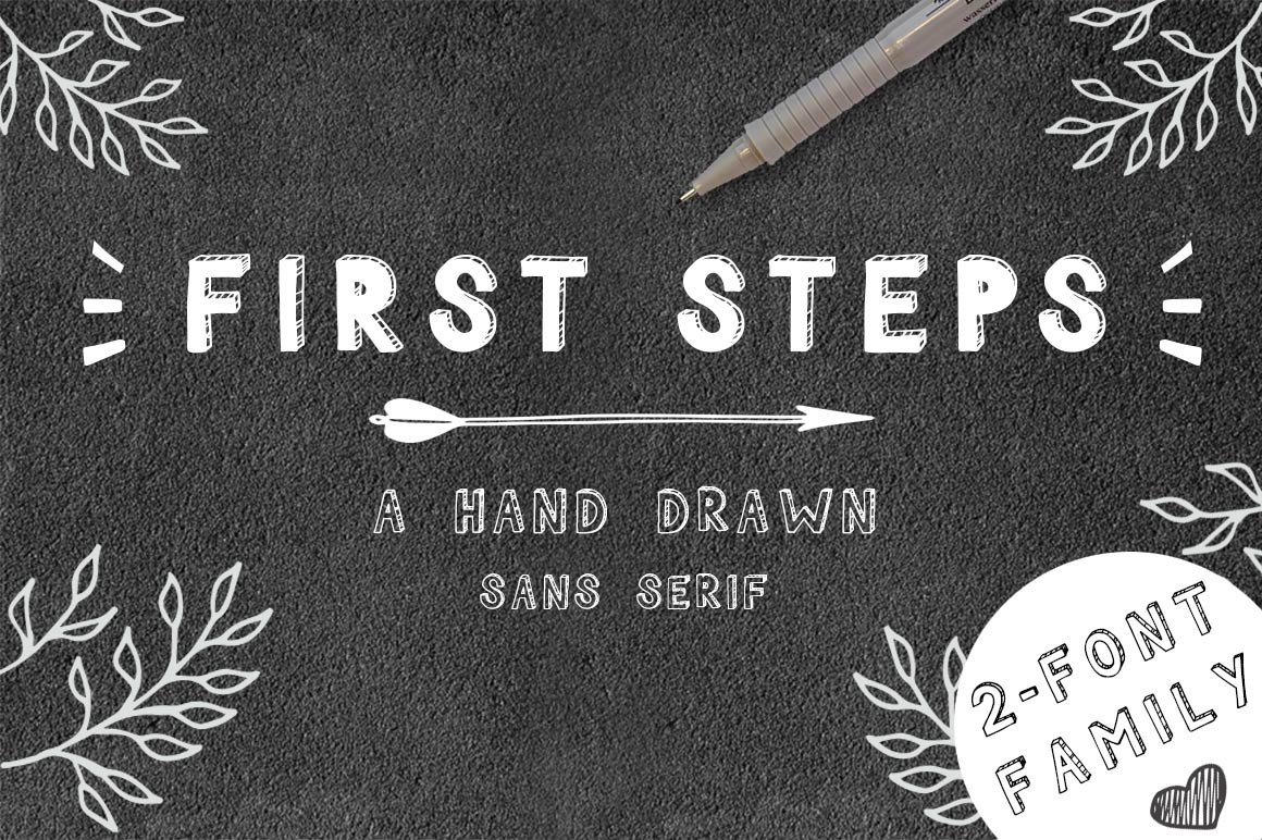 First Steps Hand Drawn Font