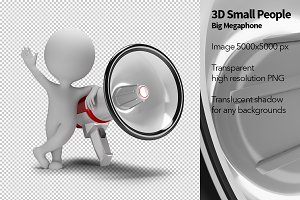 3D Small People - Big Megaphone