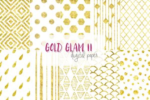 Gold Glam II digital paper