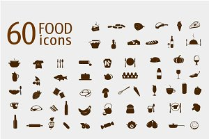 Food and drink icons vector set