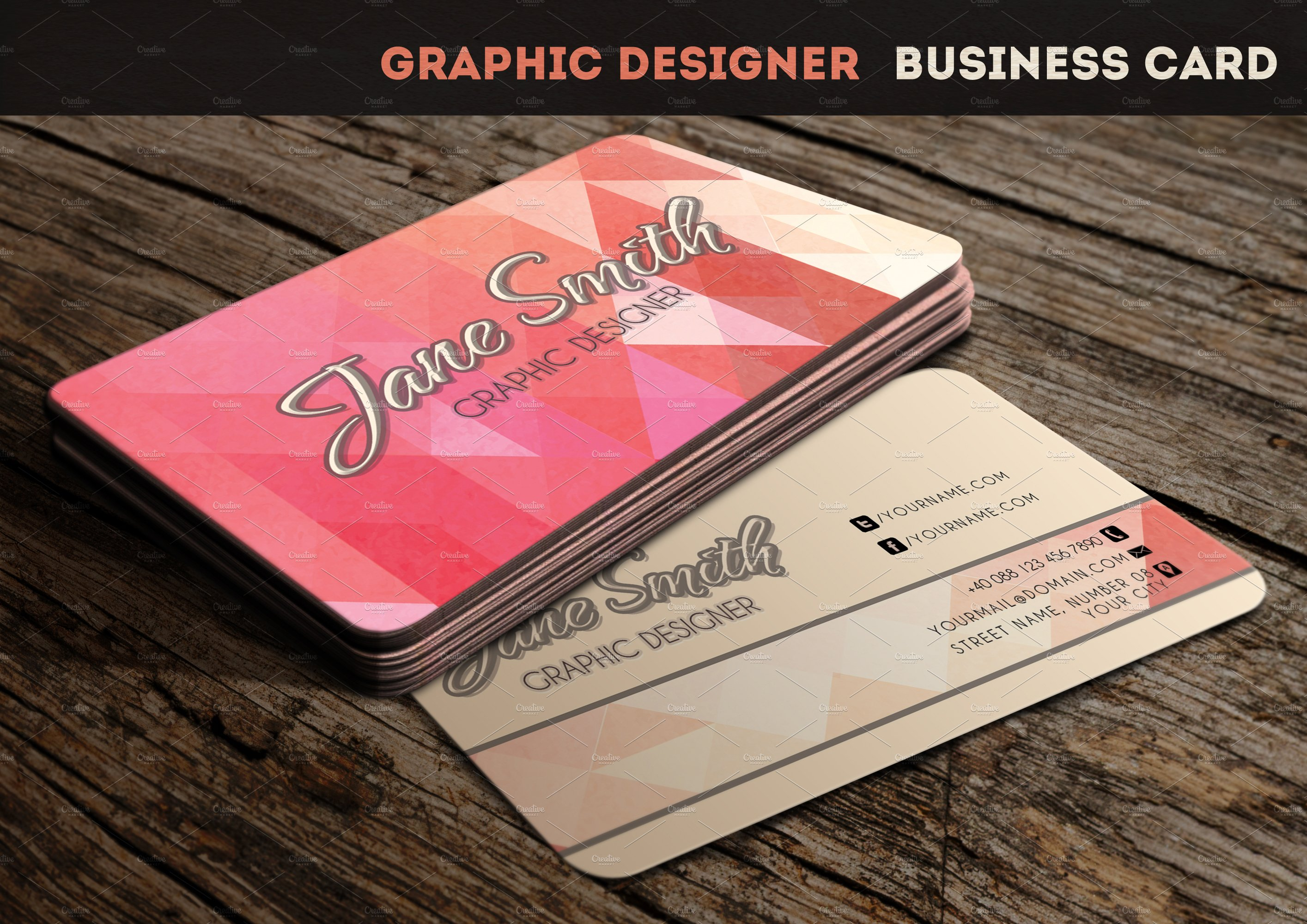 Graphic Designer Business Card ~ Business Card Templates ~ Creative ...