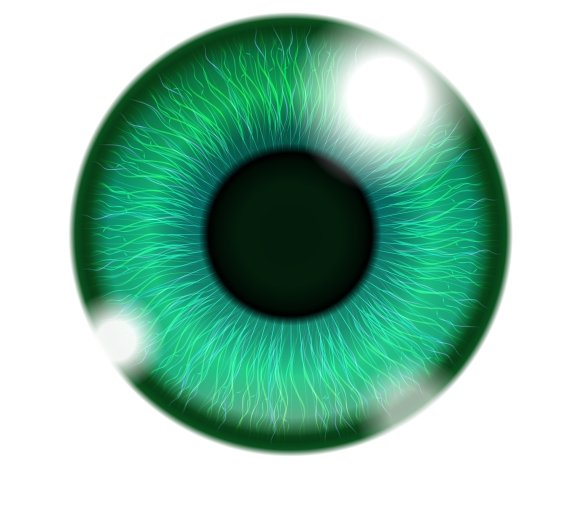 Human Green Eye in Graphics