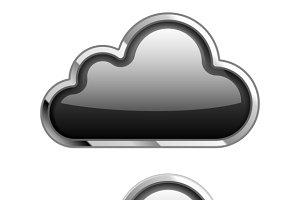 Black Cloud Icon