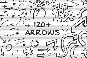 120+ Hand Drawn Vector Arrows
