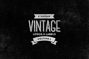 6 Vintage Logos / Labels Templates
