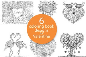 6 unique coloring book design