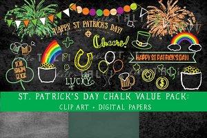 SALE!St Pat's Day Chalkboard Clipart