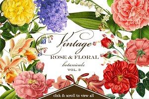 Vintage Rose & Floral Botanicals 3