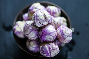 Violet brussel sprouts