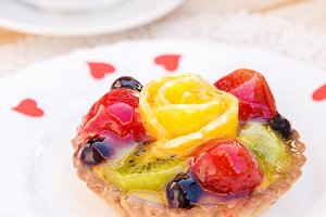Cakes with fruit jelly