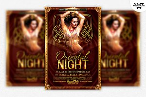 Oriental Arabian Flyer Template