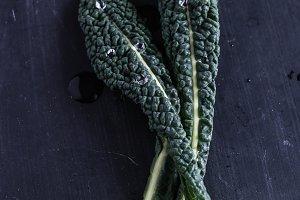 Tuscan kale leaves