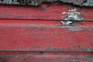 Rustic Wood Texture- Red