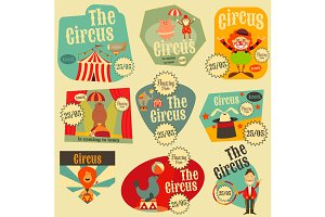 Circus Labels Set