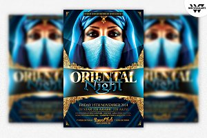 Oriental Indian Flyer Template