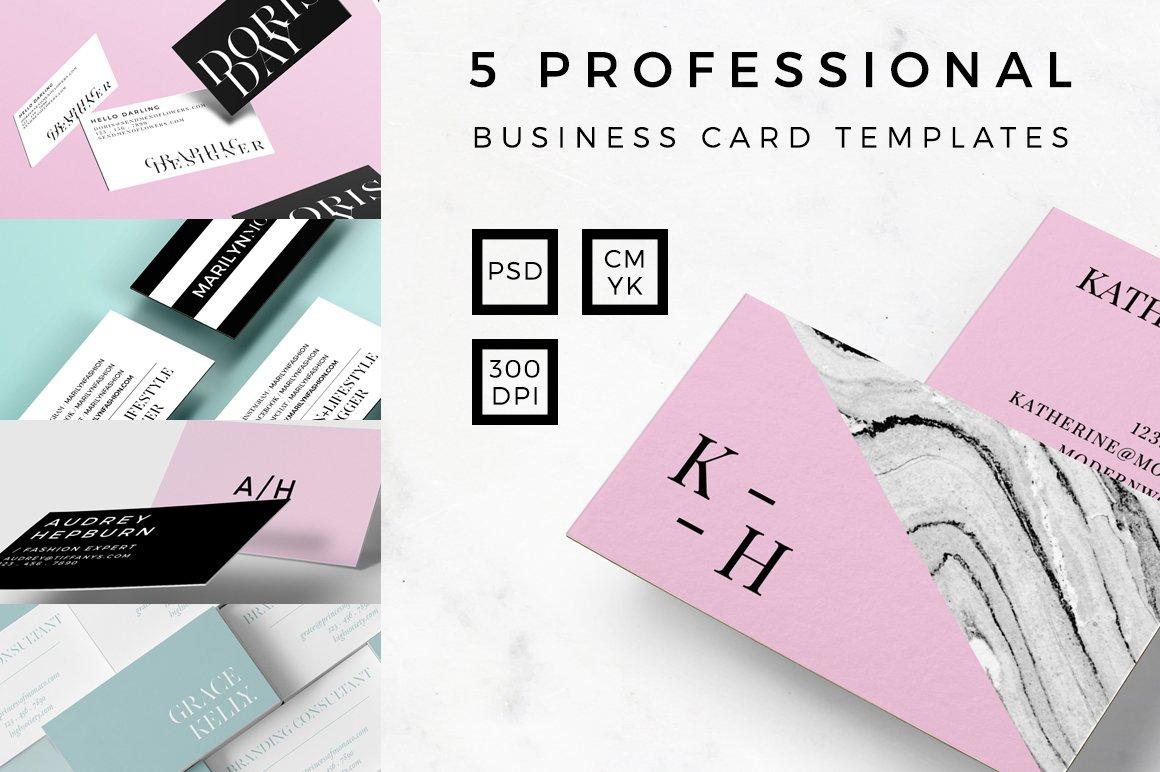 PROFESSIONAL BUSINESS CARD BUNDLE ~ Business Card Templates ...
