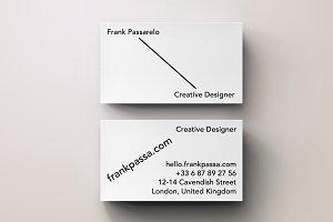 Modern Graphic Business Card Design