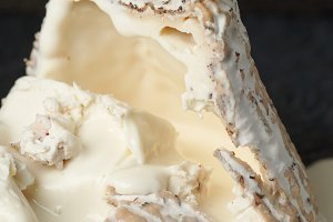 Goat cheese with mold