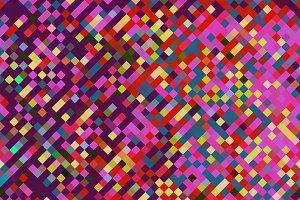 Pink Red Yellow Pixel Squares