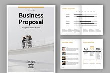 Business Proposal Layout (A4+US) by  in Templates