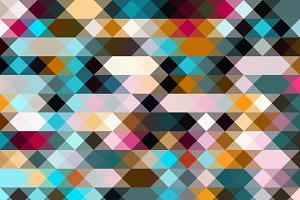Inclined Colorful Pixels Pattern