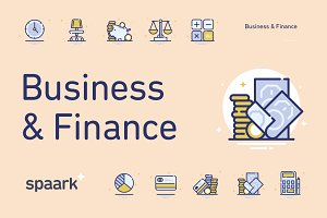 Spaark Business & Finance (20 icons)