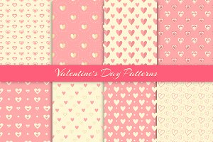 Valentine's day patterns set