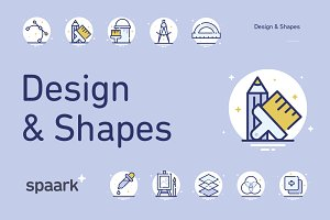 Spaark Design & Shapes (25 icons)