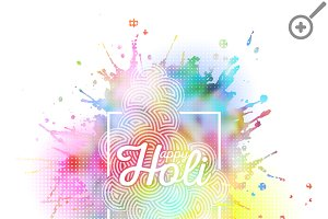 Colorful background for Holi
