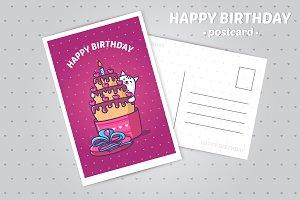 """Illustration """"Happy Birthday"""""""