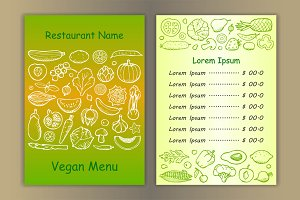 6 Vegan Menu
