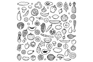 Vegan Set + Seamless pattern