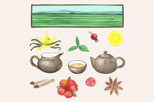 Tea Watercolour Collection