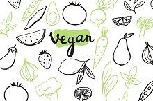Vegan food set