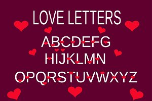 love alphabet, love letter purple