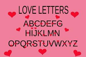 love alphabet, love letter