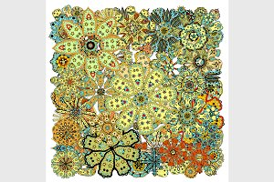 colored floral Tangle Patterns