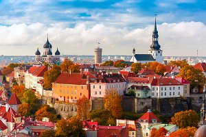 Toompea hill in Tallinn, Estonia