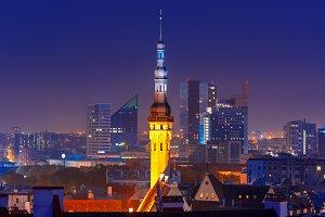 Tallinn at night, Estonia