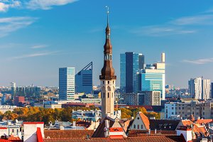 Tallinn in the day, Estonia