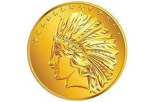 American money dollar Gold Coin