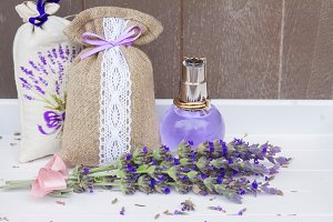 Lavender flowers spa
