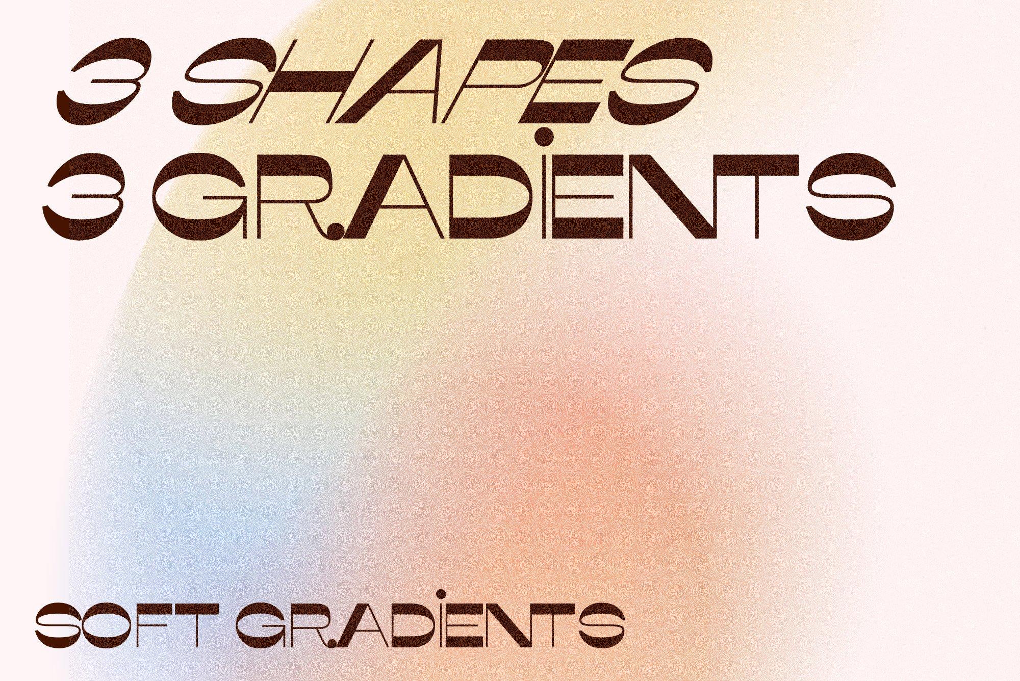3 Gradient Shape Textures Vintage
