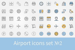 Airport icons set - 2