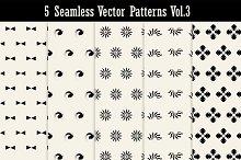 5 Seamless Vector Patterns Vol3