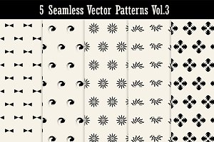 5 Seamless Vector Patterns Vol3