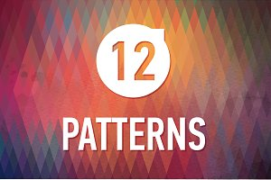 12 bright geometric patterns