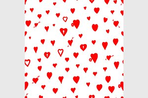 pattern with valentine hearts
